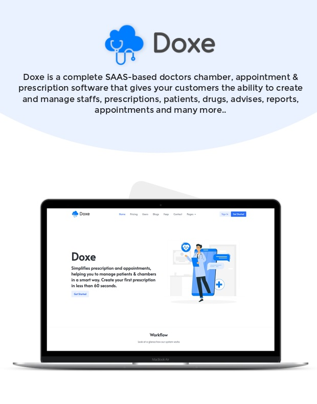 Doxe - SaaS Doctors Chamber, Prescription & Appointment Software - 1